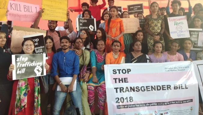 Protest_against_Transgender_Bill_in_Mumbai,_India
